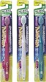 エビス 歯ブラシ プレミアムケア 歯の美白 6列 ふつう 3本組 色おまかせ