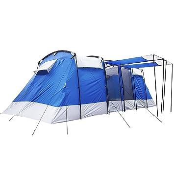 Peaktop 5000mm Waterproof 6 8 Person 3 Room Berth Hiking Dome