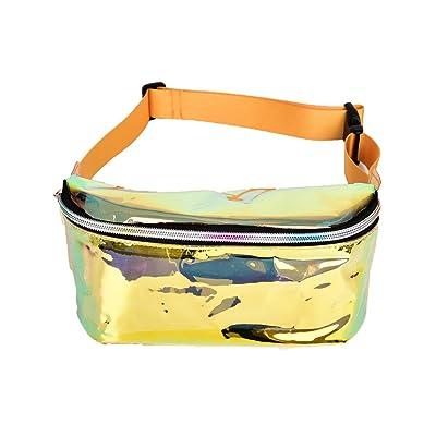 ISHIKA Transparent Belt Bag Hologram Fanny Pack Clear Waist Bag Holographic Pouch Belt Chest Bag