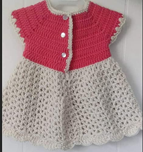Amazoncom Crochet Baby Girl Dress Baby Dress Handmade