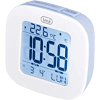 Trevi SLD 3860 Clock with Backlit Display, Thermometer, Multilingual Calendar, Snooze Function, Blue