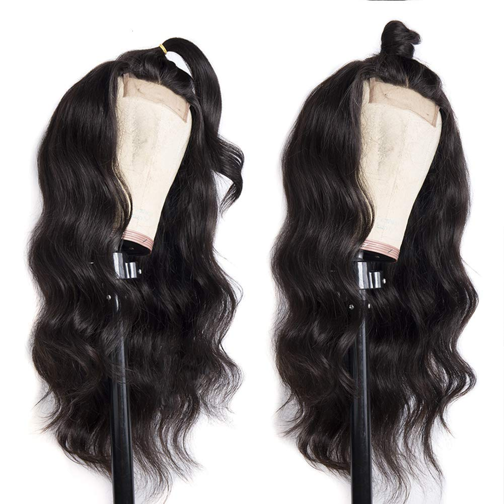 MDL 20inch 4x4 Brazilian Max 53% OFF Body Wave Human Wigs Max 60% OFF Density Hair 150%
