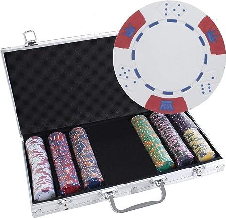 300 Ct Black Diamond 14 G arcilla Poker Chip Set w/caja de ...