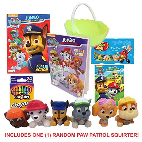 Paw patrol easter basket for boys girls includes 19 toy candy save negle Choice Image