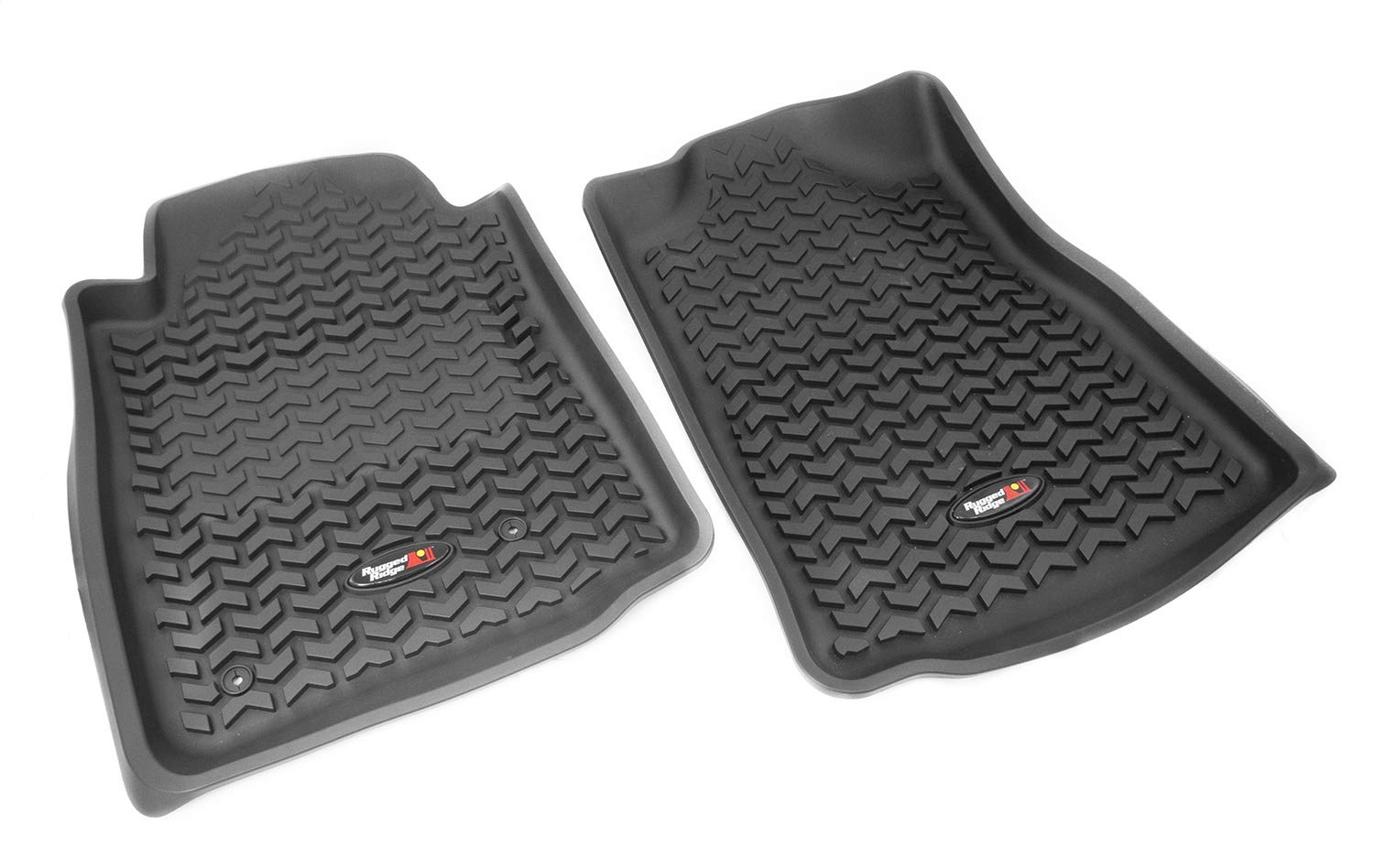 Front 2012-2015 Toyota Tacoma Regular // Access // Double Cab All Terrain Floor Liner Rugged Ridge 84904.15 Automatic Gray