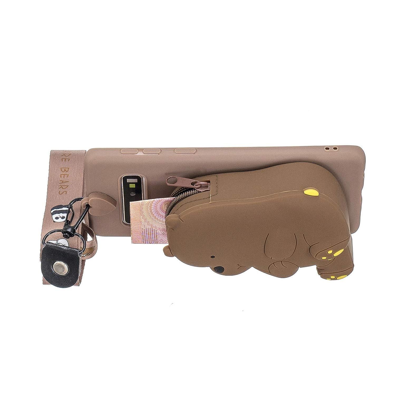 Custodia Finemoco Cover per Samsung Galaxy S10 Plus S10 3D Silicone Morbida Cover Elefante Grigio Portafoglio Protettiva Cover Ultra Sottile TPU Gel Bumper Case Antiurto Flessibile Gomma Cover