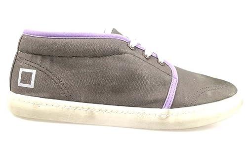 ap559 D.A.T.E. (DATE)  zapatos beige lila textil mujer sneakers EU 37EU 40