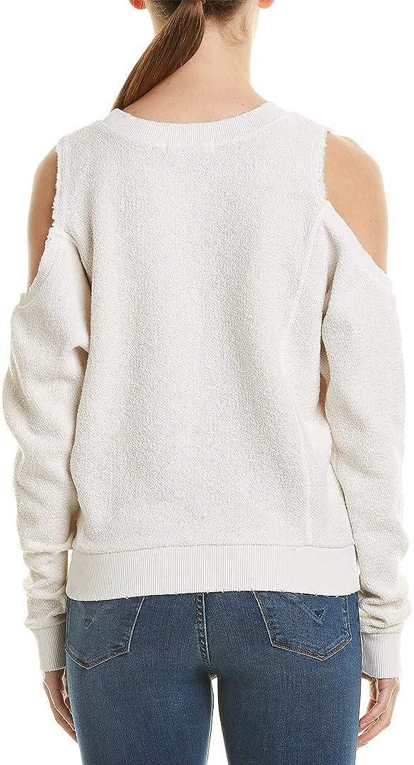 n:Philanthropy Damen Maia Reversed Open Shoulder Sweatshirt Pullover Weiße Magie