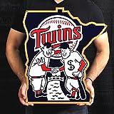 Minnesota Twins Minnie & Paul Lasercut Steel Logo Sign Wall Sign 24 x 24in
