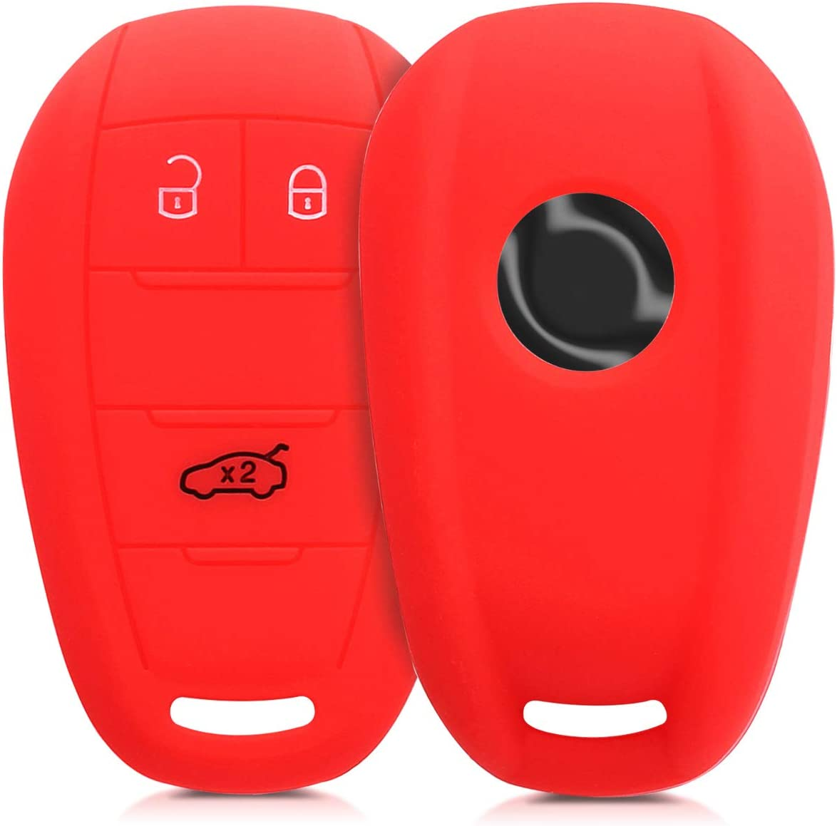 Red Silicone Protective Key Fob Cover for Alfa Romeo 3 Button Remote Control Car Key kwmobile Car Key Cover for Alfa Romeo