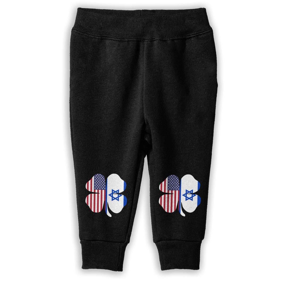 Baby Girls Fleece Pants NJKM5MJ American Israel Flag Shamrock Sweatpants