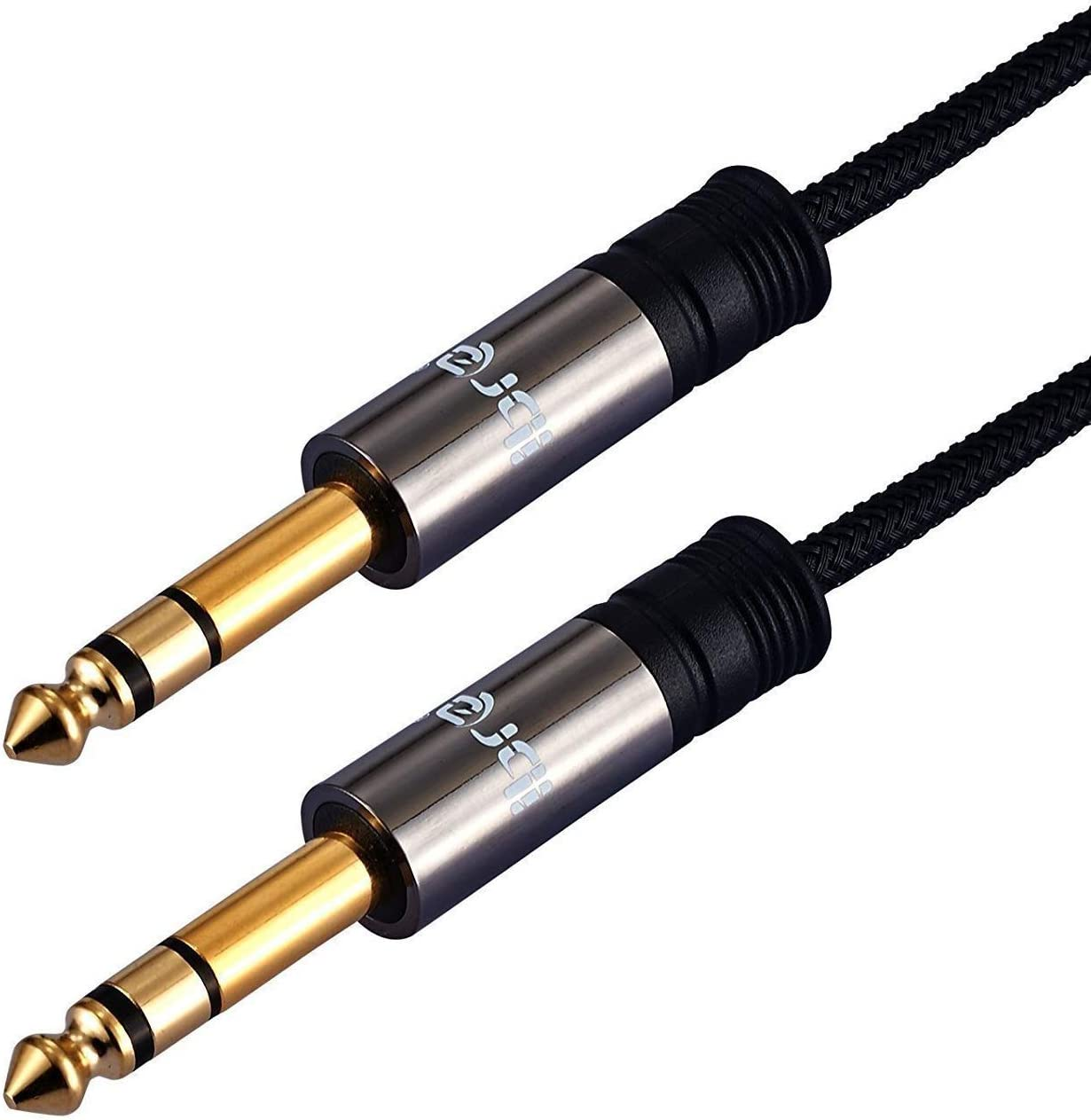 1//4 to 1//4 Speaker Cable 3M with Nylon Mesh,Stereo 6.3mm Guitar Bass Cable for Electric Guitar Effects Pedal Bass Drums Bass Keyboard Amplifier Guitarra etc IBRA 6.3mm Instrument Guitar cable 3M