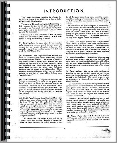 Power Units Parts Catalog Manual - 1