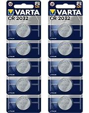 Varta CR2032 Lithium Batterien Elektronik, 3V Batterie, 10er Blisterverpackung (1 x 10er Knopfzellen)