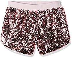 Girls Big Pull on Sequin Shorts