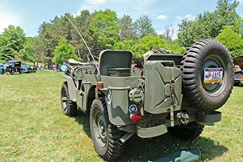 LAMINATED 36x24 Poster: Jeep Military Vehicle Army Vintage H