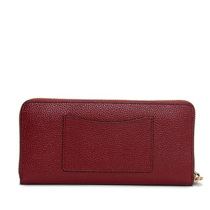 b83eac4f74e23 MICHAEL Michael Kors Damen kontinentale Geldbörse Mercer Ein Größe Rot   Amazon.de  Schuhe   Handtaschen