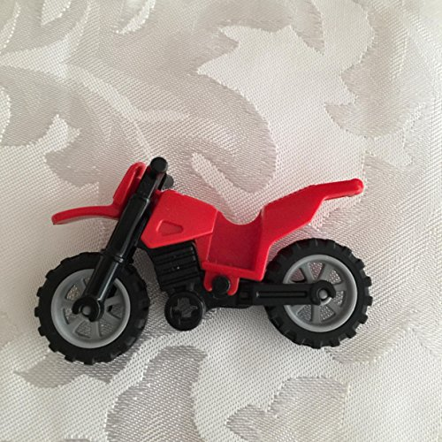 Lego Red Motorcycle Dirtbike Vehicle for Minifigures (loose)