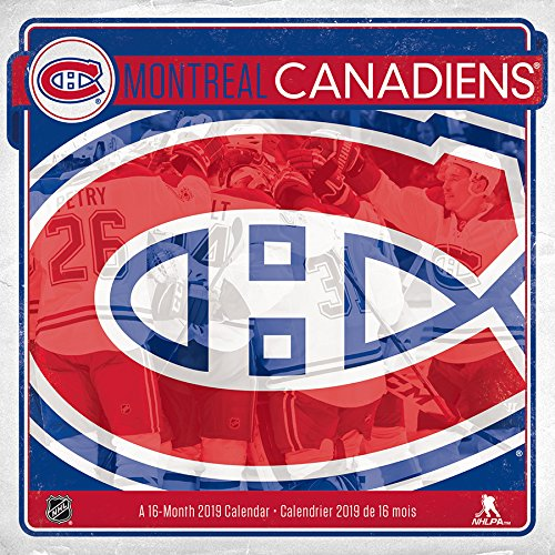 2019 Montreal Canadiens Wall Calendar (English and French Edition) by Trends International