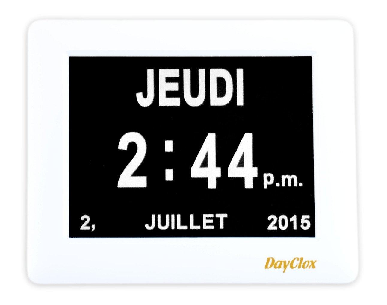 Horloge numérique avec jour - date et année