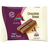 Atkins Endulge Chocolate Break Low Carb, Low Sugar, Wafer Snack Bar, 3 x 21.5g