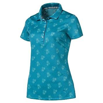 PUMA 2019 Burst Into Bloom Polo, Azul Verdoso, Small para Mujer ...