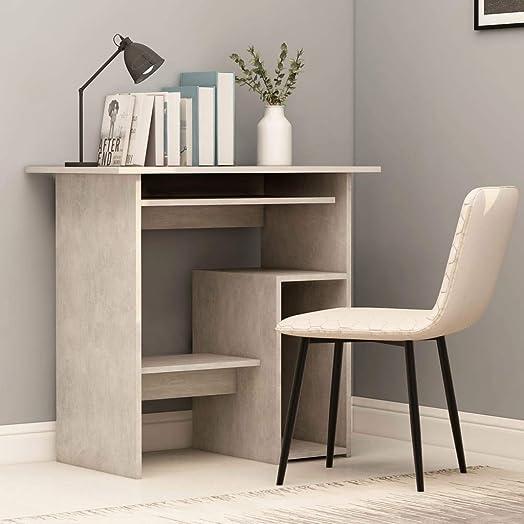 vidaXL Computer Table with Open Shelf, Multipurpose Home Office Desk Writing Desk with Spacious Desktop, Storage Shelf, Workstation, Desk for Bedroom Home Office 31.5 x17.7 x29.1