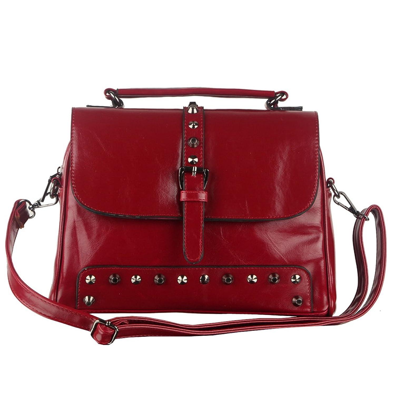 E-Girl N001,Women Red PU Leather Hangbags,Bags 34x11x24 cm (L x W x H)