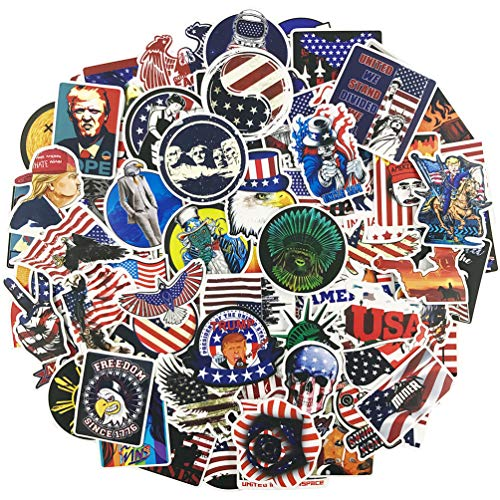 America President Laptop Stickers 100 Pcs Pack Cool Brand Vinyl Waterproof Sticker Skateboard Pad MacBook Car Snowboard Bicycle Luggage Decal