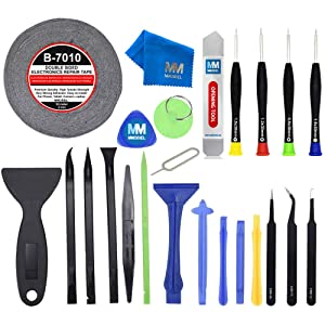 MMOBIEL 24 in 1 Professional Repair Toolkit Screwdriver Set incl 2mm Adhesive Tape PVC Suction Cup Nylon Spudger for Smartphones Tablets iPad iPhone Samsung Huawei LG Motorola Xiaomi