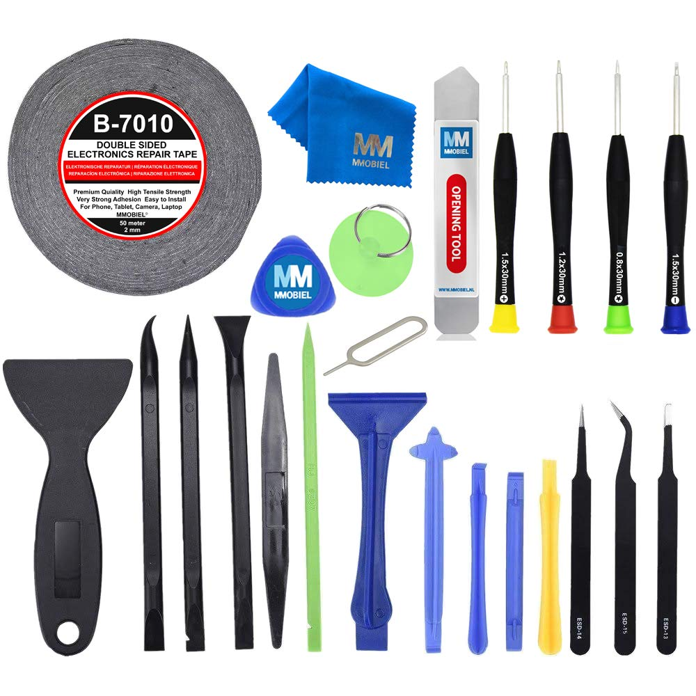 MMOBIEL 24 in 1 Professional Repair Toolkit Screwdriver Set incl Tape for Smartphones and tablets