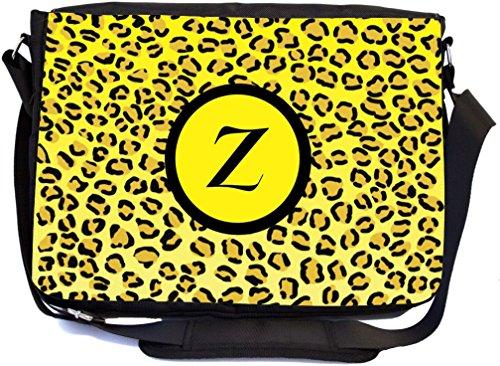 Rikki Knight Buchstabe Z Initiale gelb Leopard Print Monogramm Design Messenger Schule Tasche (mbcp-cond2660) G0vVGDBTI2