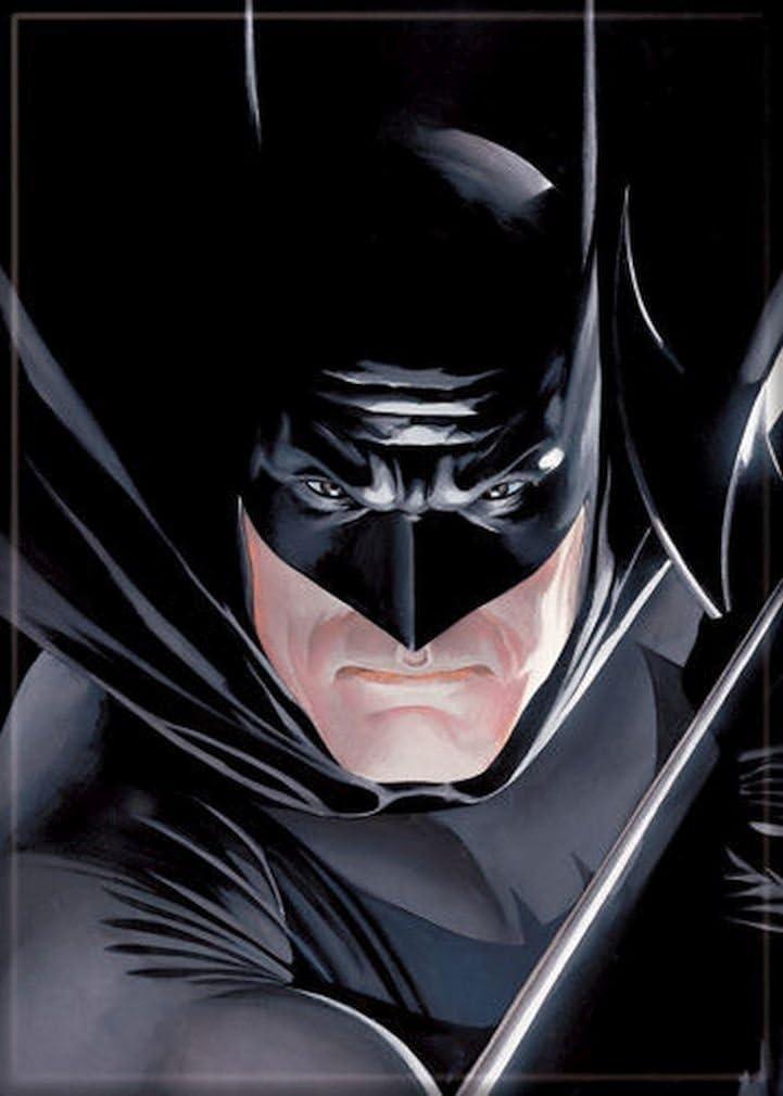 Ata-Boy DC Comics Alex Ross Batman 6.4cm x 8.9cm Magnet for Refrigerators and Lockers
