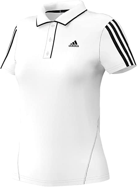 adidas Polo Response Classical Blanco/Negro L: Amazon.es: Ropa ...