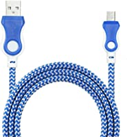 Creazy Universal Micro USB Charger Cable Charging Cord For Android Phone (Blue)