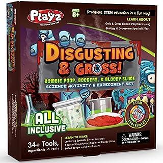 Playz Disgusting n' Gross Zombie Poop, Boogers, & Bloody Slime Science Activity & Experiment Set