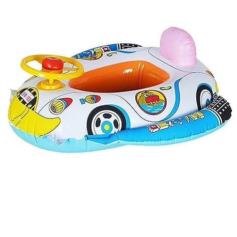 Weka verano piscina hinchable de natación Anillo de asiento de coche para bebé rueda cuerno flotador