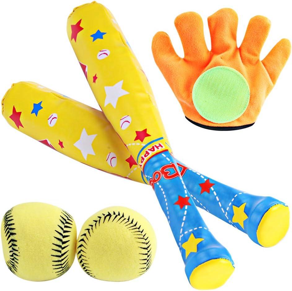 N// A Set da Baseball per Bambini Giocattoli per Sport allAria Aperta Gioco interattivo Genitore-Figlio