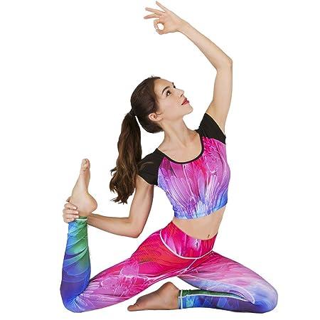 Set de Ropa Deportiva, Ropa de Yoga de Fitness, Estampado ...