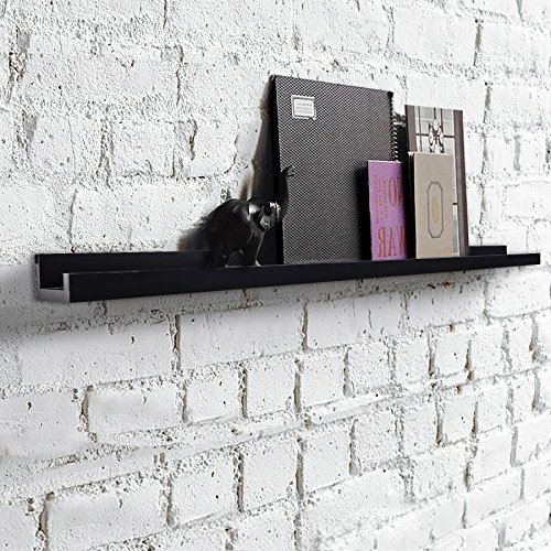 "Review Shelving Solution Large ""L"" Shaped Floating Shelf (Black,45 1/4 Inch) By SHELVING SOLUTION by SHELVING SOLUTION"