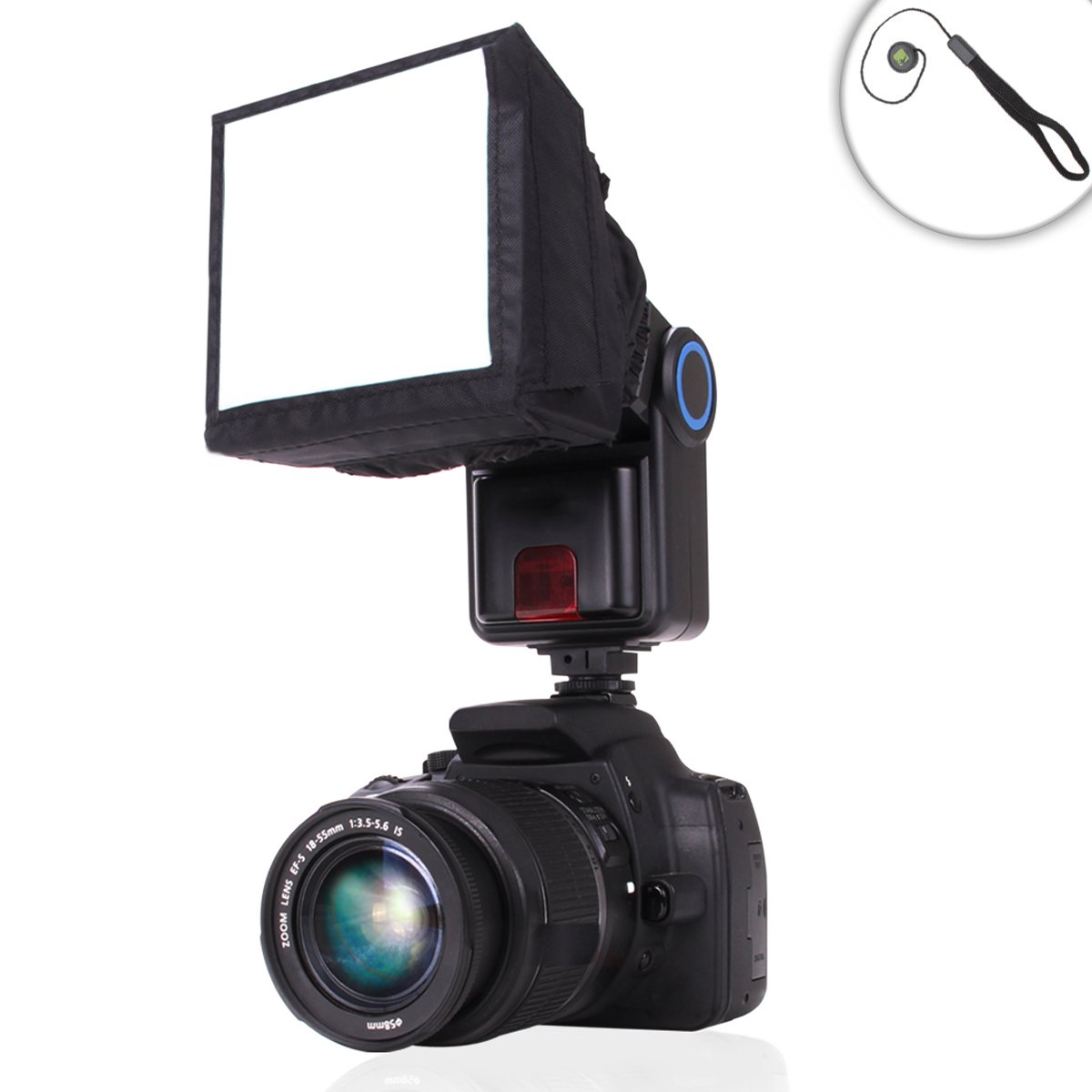 Softbox Light Flash Popup Diffuser Studio with Portable Design for External Speedlites by ENHANCE - Works With Neewer , Yongnuo , Altura , Bower and More Speedlites