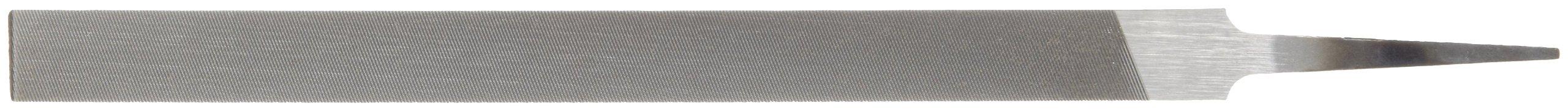 Nicholson Pillar File, Swiss Pattern, Double Cut, Rectangular, #0 Coarseness, 8'' Length