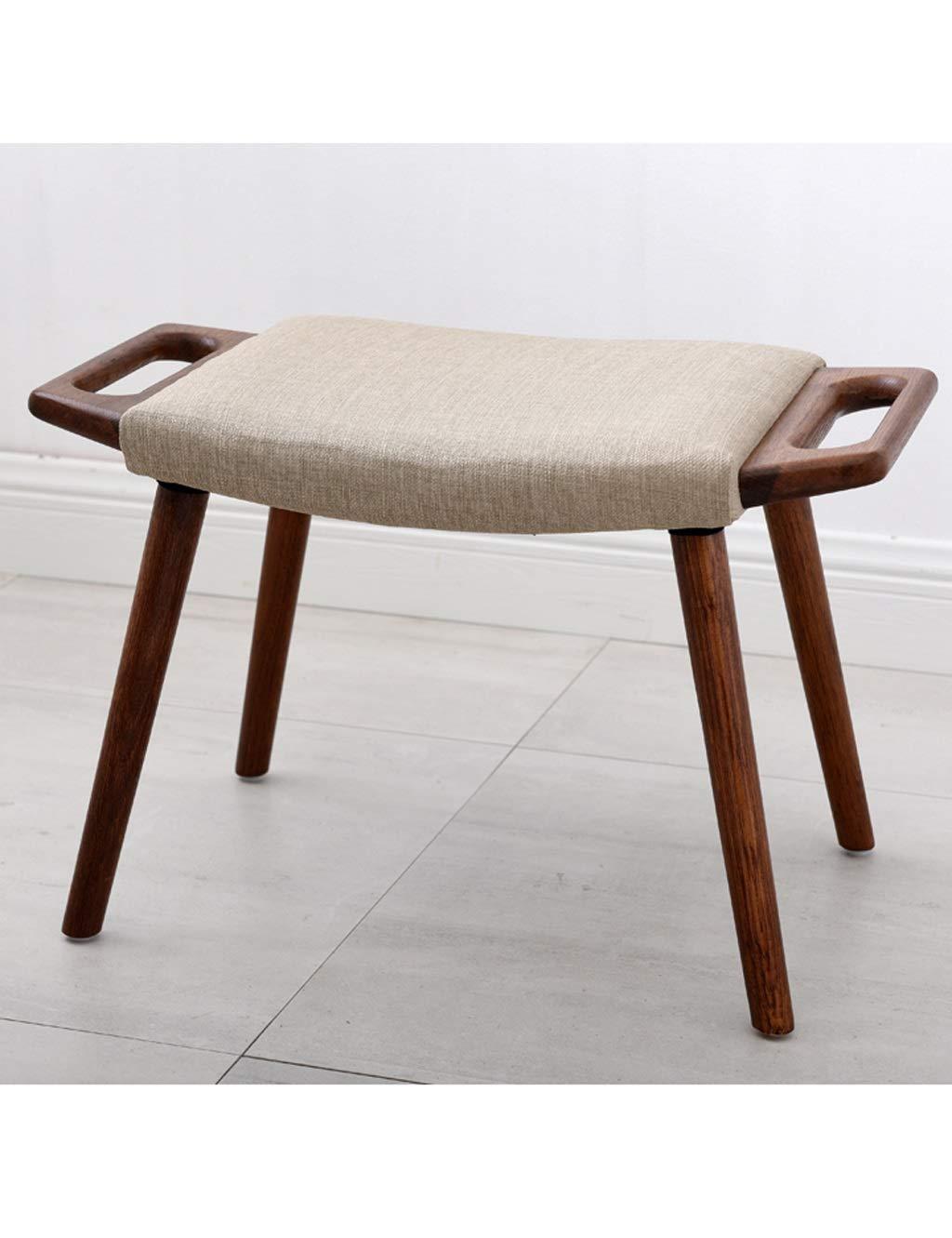 Amazon com esperanzaxu household ottoman low stool sofa bench bedroom living room hallway door footstool gray 60cmx36cmx40cm kitchen dining