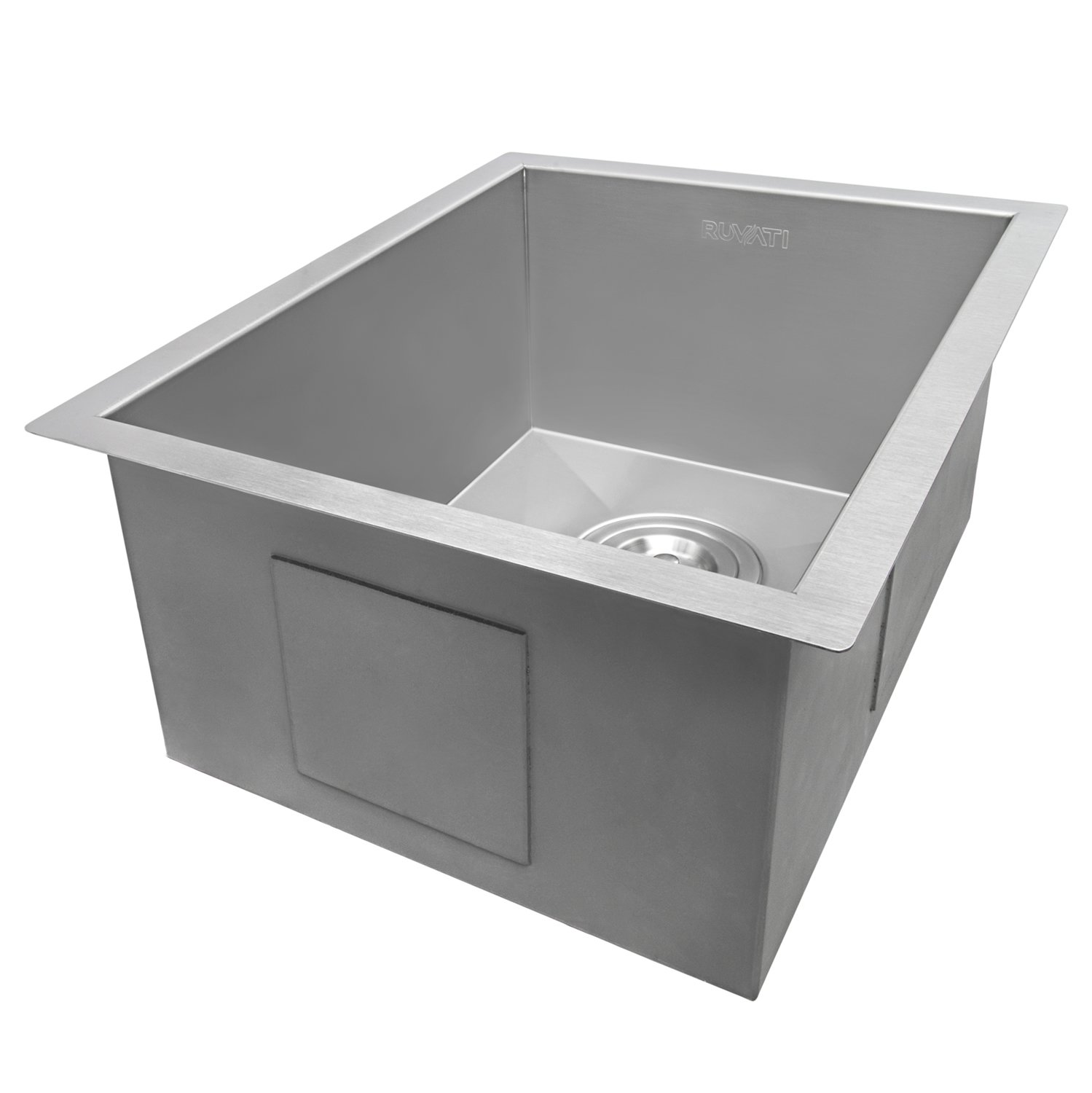 Ruvati 14-inch Undermount 16 Gauge Zero Raduis Bar Prep Kitchen Sink Stainless Steel Single Bowl - RVH7110 by Ruvati (Image #5)