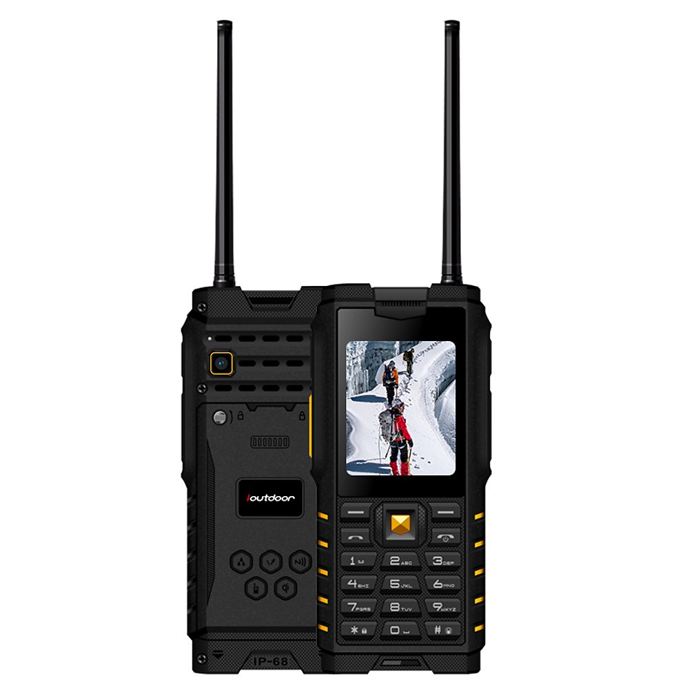 Ioutdoor T2 2G GSM Feature Phone IP68 Tri-proof Walkie-talkie 2 Way Interphone Radio