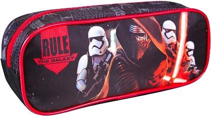 PERLETTI - Estuche Escolar Niño Star Wars - Bolsa para Lapices Estampado Kylo Ren - Neceser Portatodo de Chico