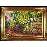 Overstockart Mon2660-Fr-650G24X36 Monet El puente japonés con Regency Gold Frame, Gold Finish