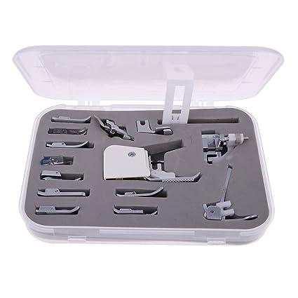 Pie presseur máquina a coser Kit cabra 15pcs accesorios para máquina a coser domistique con caja