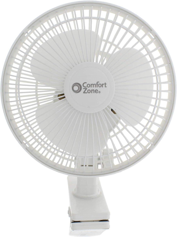 Comfort Zone 6 Table Fan White