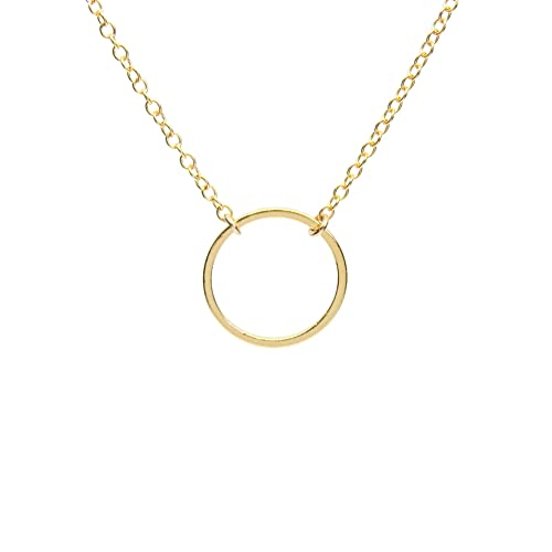 Wedding Jewelry Karma Circle Necklace Ring Necklace Bridesmaid Gift Love Eternity Ring Circle Necklace In GoldSilverRose Gold